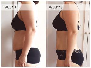 Ruth BBG Week 3 vs Week 12 Left Profile