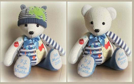 how to celebrate first birthday: memory bear 1