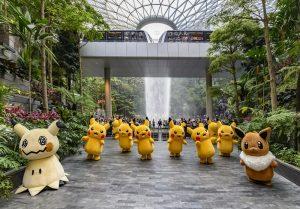 Pikachu and Friends Parade at Jewl Changi Airport