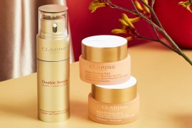 Reverse signs of aging with these amazing products, including Clarins' Golden Double Serum.