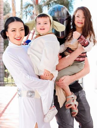 Nurul Aini celebrates Hari Raya with her family.